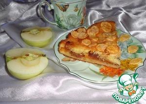 Рецепт Сметанный пирог с начинкой из карамелизованных яблок