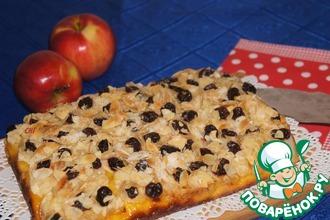 Рецепт: Немецкий пирог с яблоками и шафраном