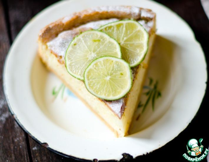Рецепт: Песочный тарт с рисовым кремом и лаймом