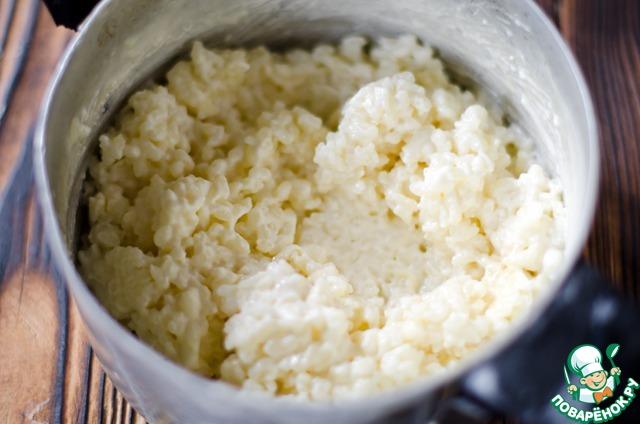 Торт с рисовым кремом