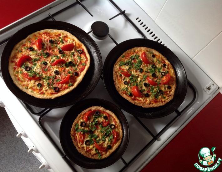 Рецепт: Открытый пирог с овощами