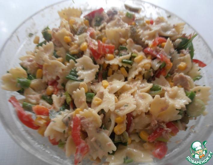 Рецепт: Макаронный салат с тунцом