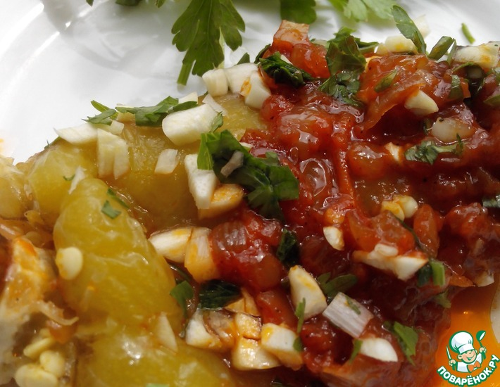 Рецепт: Болгарский перец Одесский