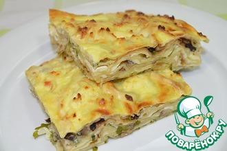 Рецепт: Запеканка из лаваша с сыром и грибами