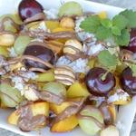 Салат фруктовый с рисом