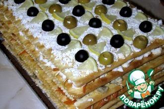 Рецепт: Закусочный торт Наполеон