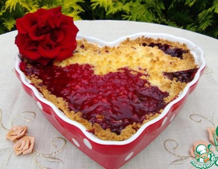 Рецепт: Штрейзельный пирог с ягодами