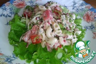 Рецепт: Макаронный салат Детская фантазия
