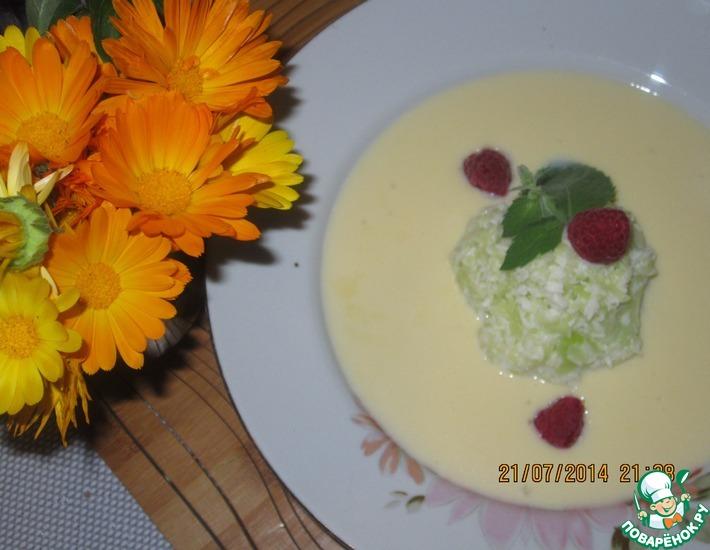 Рецепт: Молочный суп-крем с кабачком и ореховой стружкой