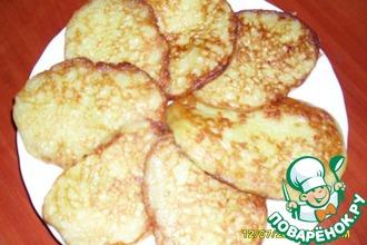 Рецепт: Оладьи кабачковые сладкие