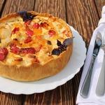Пирог с курицей, перцем и вялеными томатами