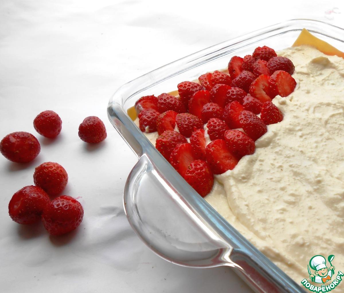 Десертная творожная лазанья