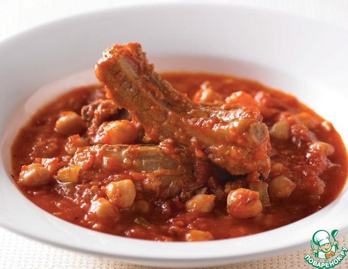 Рецепт: Суп из свиных рёбрышек
