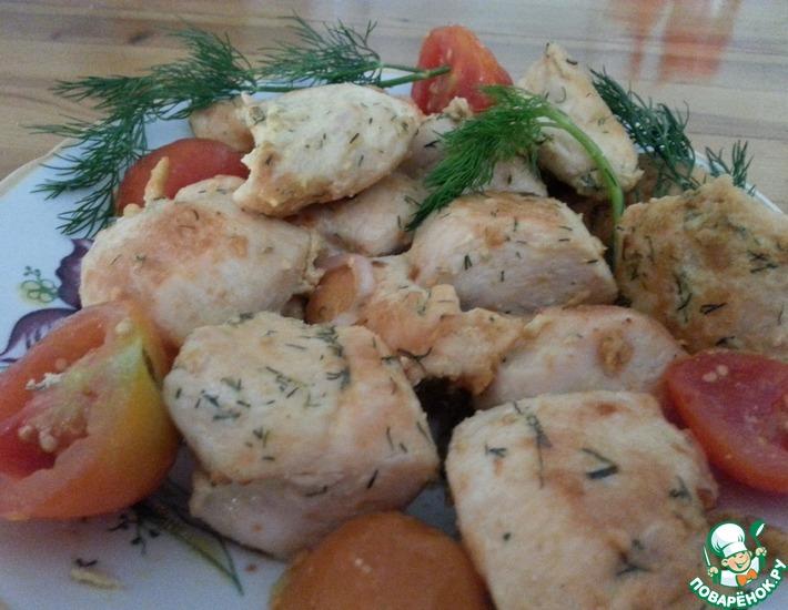 Рецепт: Куриная грудка с горчицей и яйцом