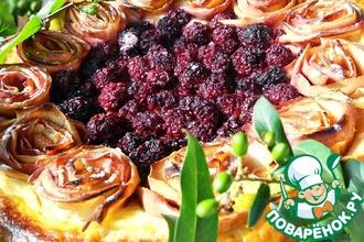 Рецепт: Яблочно-ежевичный пирог Летнее наслаждение