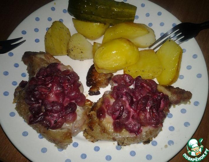 Рецепт: Свинина под крыжовником