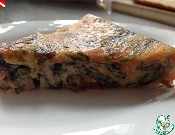 Рецепт: Клафути с лососем и летними овощами