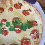 Клафути закусочный с фаршированными помидорами черри