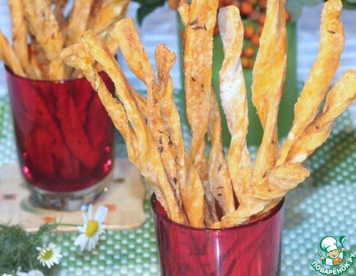 Рецепт: Cоленые томатные палочки с тмином
