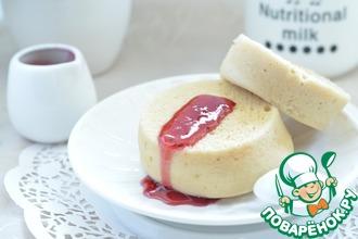 Рецепт: Английская булочка из микроволновки
