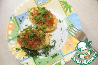 Рецепт: Картофельные лодочки с овощами