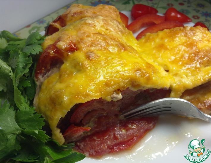Рецепт: Рататуй из баклажанов, помидоров и мяса