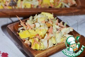 Рецепт: Салат Белорусский с омлетом