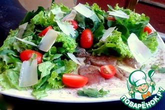 Рецепт: Карпаччо-салат из свежего тунца