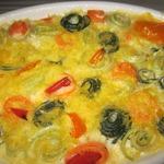 Кабачковая запеканка Букет из овощей