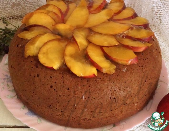 Рецепт: Пирог с яблоками и ягодами Летняя рапсодия