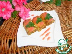 Рецепт Рулетики из кабачка с мясной начинкой