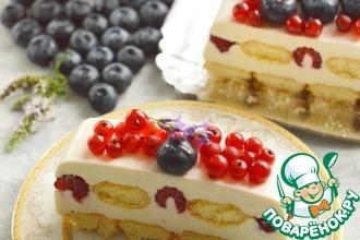 Рецепт: Сливочный десерт с ягодами