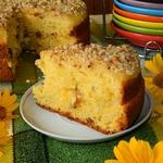 Творожный пирог с апельсиновым соусом