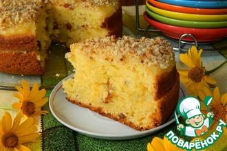 Рецепт: Творожный пирог с апельсиновым соусом