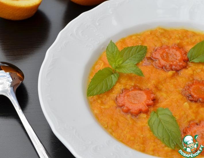 Рецепт: Каша геркулесовая с карамельной морковью