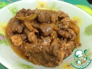 Рецепт Мясо с овощами в кисло-сладком соусе