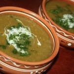 Суп-пюре из нута и лука-порея