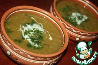 Рецепт: Суп-пюре из нута и лука порея