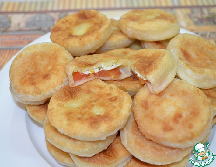 """Пирожки """"Мозаика"""" – кулинарный рецепт"""
