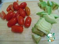 Теплый салат с куриной печенью и овощами ингредиенты