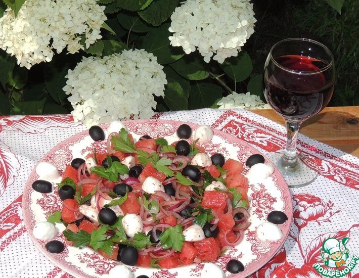 Рецепт: Арбузный салат Summer