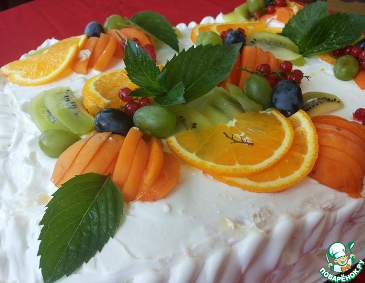 Рецепт: Торт Тропиканка