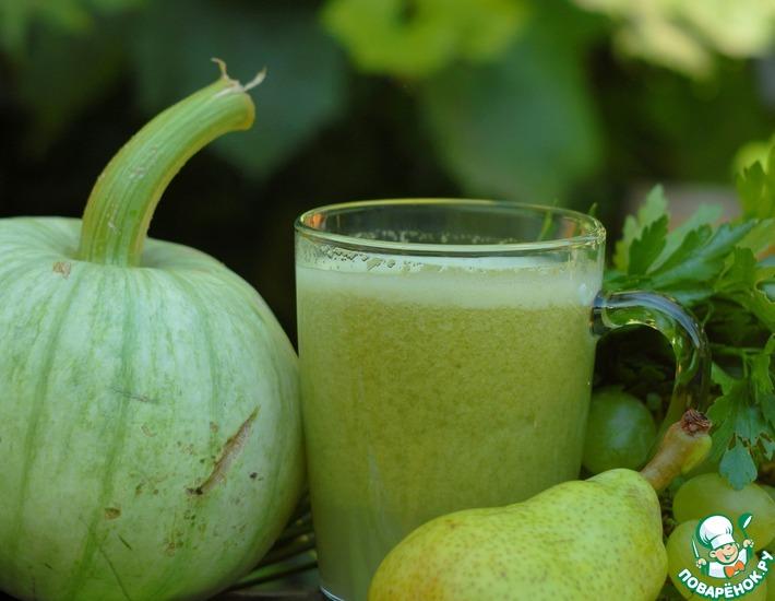 Рецепт: Фруктово-овощные зеленые коктейли