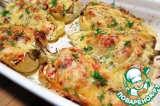 Рецепт: Перец, фаршированный курицей и помидорами