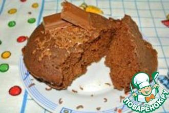 Рецепт: Кекс в кружке за 3 минуты