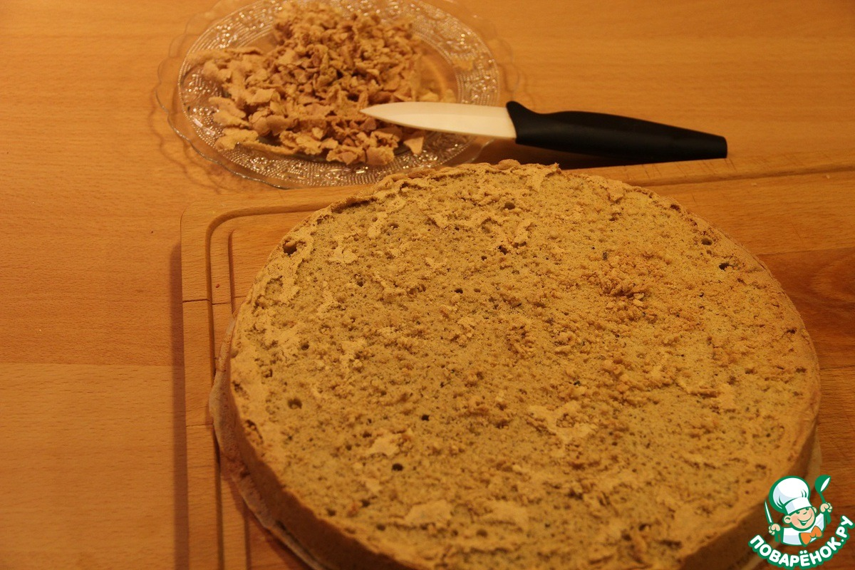 Кофейно-малиновый торт