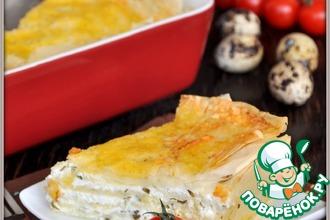 Рецепт: Слоеный пирог с брынзой по мотивам пирога Фатаер