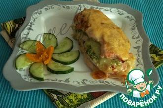 Рецепт: Куриное филе с брокколи и сыром