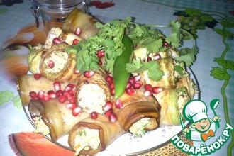 Рецепт: Дедушкины овощные рулеты с ореховой пастой