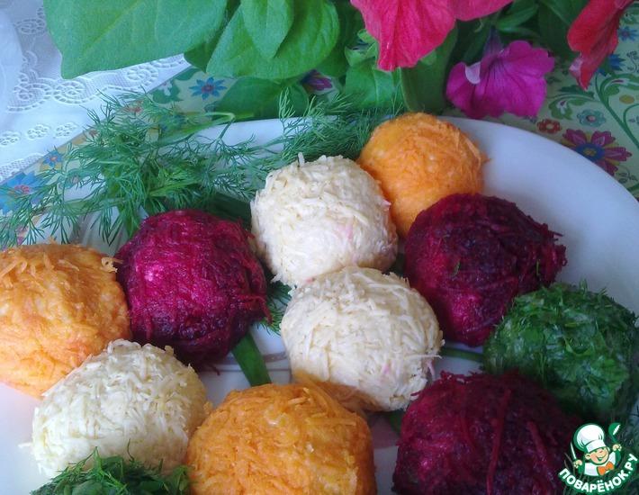 Рецепт: Картофельные шарики разноцветные